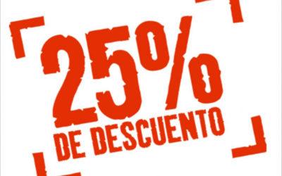 25% Descompte en tots els nostres serveis. Tens 48 hores per beneficiar-te.