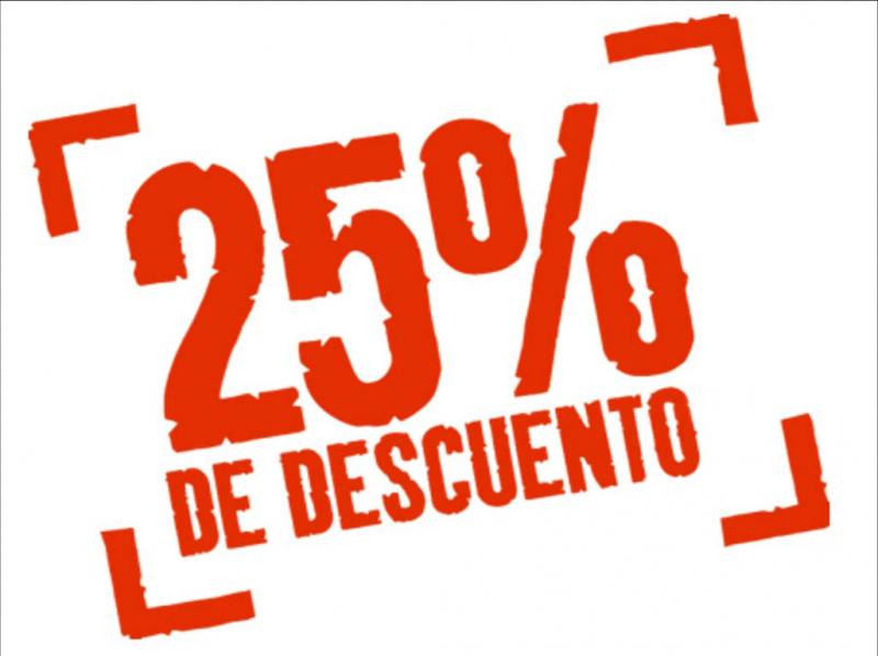 25% Descuento en todos nuestros servicios. Tienes 48 horas para beneficiarte